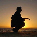 guitar sunset